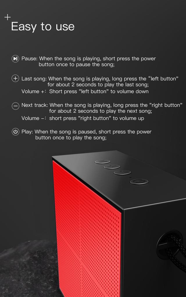 Портативная Bluetooth колонка Baseus Encok E05 Music-cube Wireless Speaker NGE05-01 Черная