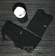 Мужской летний комплект футболка+шорты+кепка ST358, Реплика