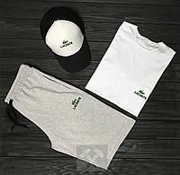 Мужской летний комплект футболка+шорты+кепка ST357, Реплика