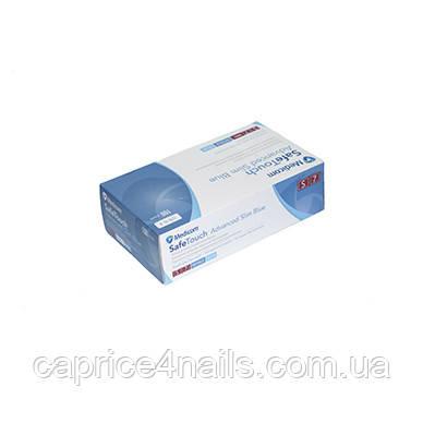 Перчатки нитриловые без пудры нестерильные Medicom Safetouch Advanced Slim Blue (голубые), размер S,1175-TG_B