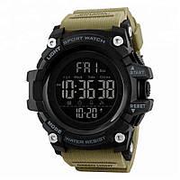 Skmei 1384  хаки мужские  спортивные часы, фото 1