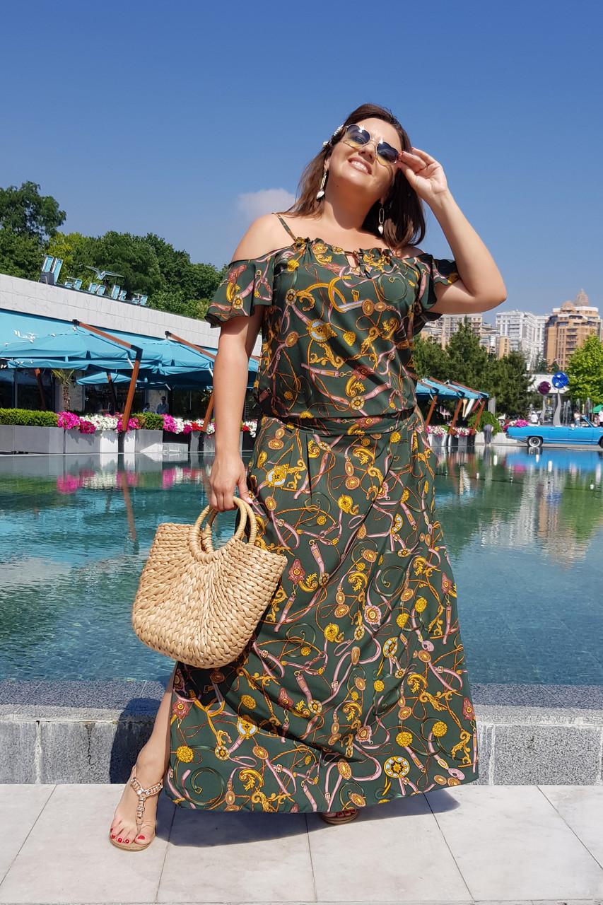 Длинное платье Цепи 04085