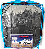 Авто чехлы Lada Granta 2011- sedan (цельная) 2 подголовника Nika, фото 1