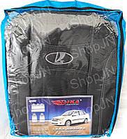 Авто чехлы Lada Granta 2011- sedan (цельная) 5 подголовников Nika, фото 1