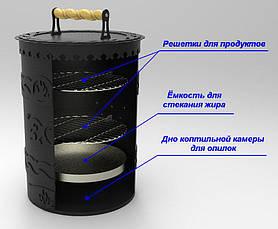"""Вертикальная коптильня на 2 яруса """"Малая"""", 4мм, фото 2"""