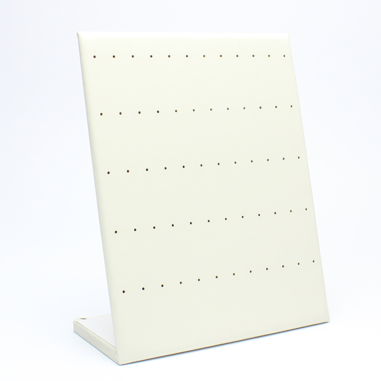 "Стойка планшет ""Под пусеты белая эко-кожа 30 пар 25х20х10,5 см"""