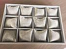 """Планшет ювелирный """"12 Ячеек с подушками 35 х 24 х 5 см"""" серый, фото 2"""