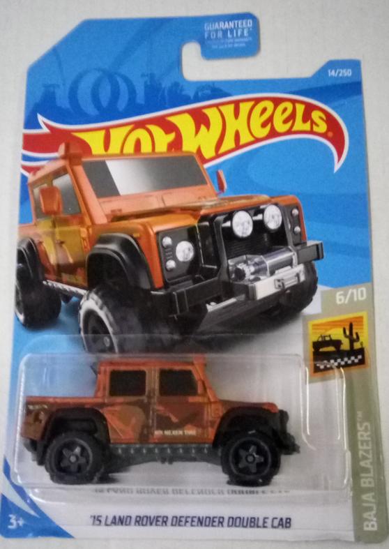 Машинка Hot Wheels 2019 '15 Land Rover Defender Double Cab