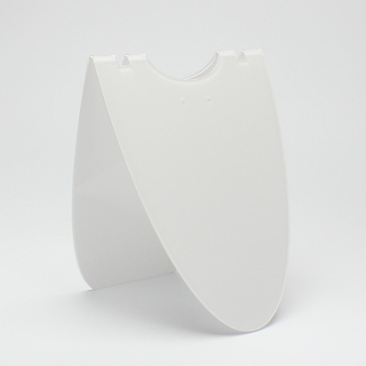 Стойка акриловая под набор,цепи кулон белая