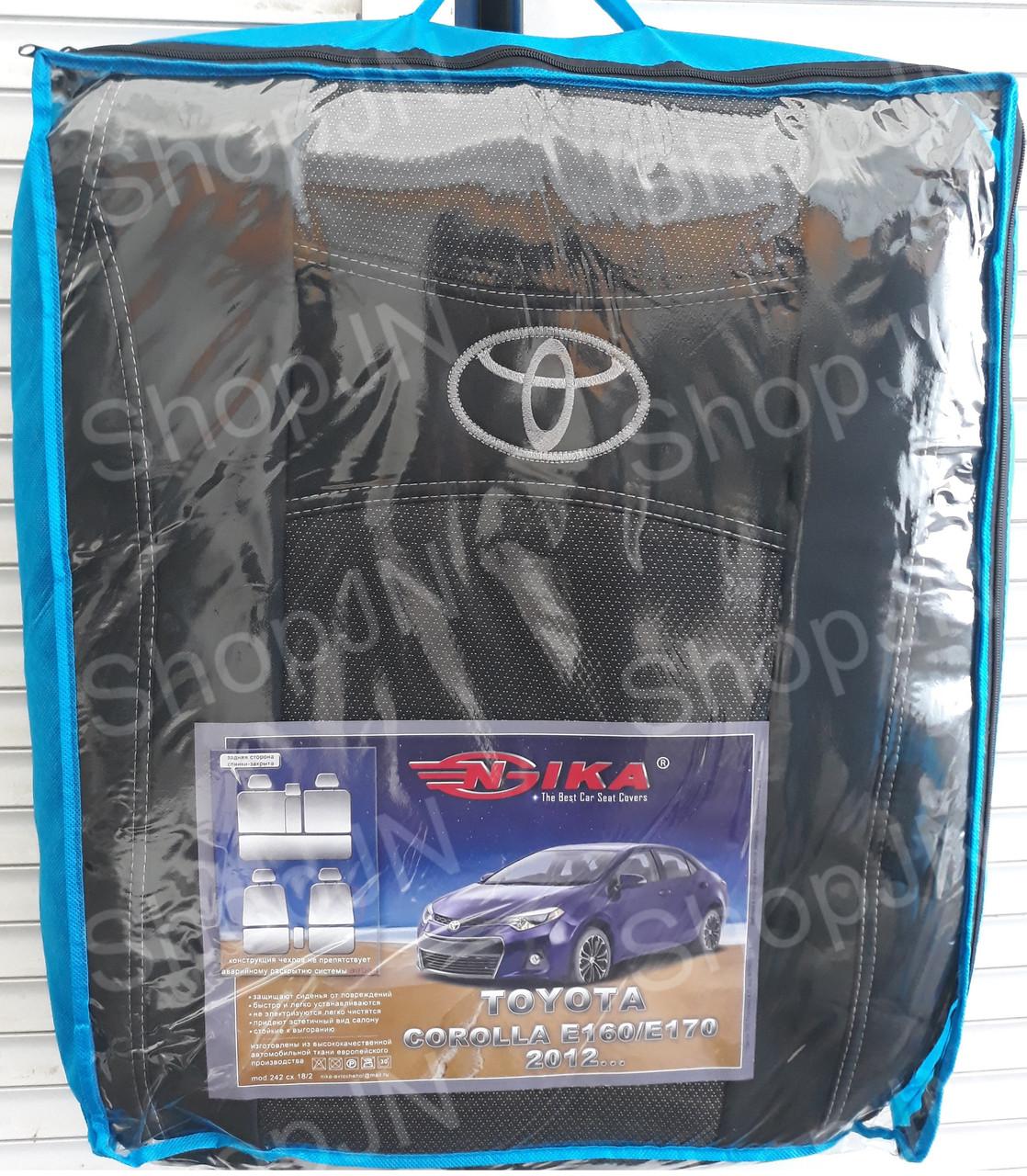 Авточехлы Toyota Corolla E 160 / E 170 2012- Nika