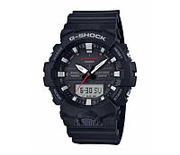 Часы наручные мужские Casio GA-800-1A G-Shock в черном матовом цвете новые, оригинал