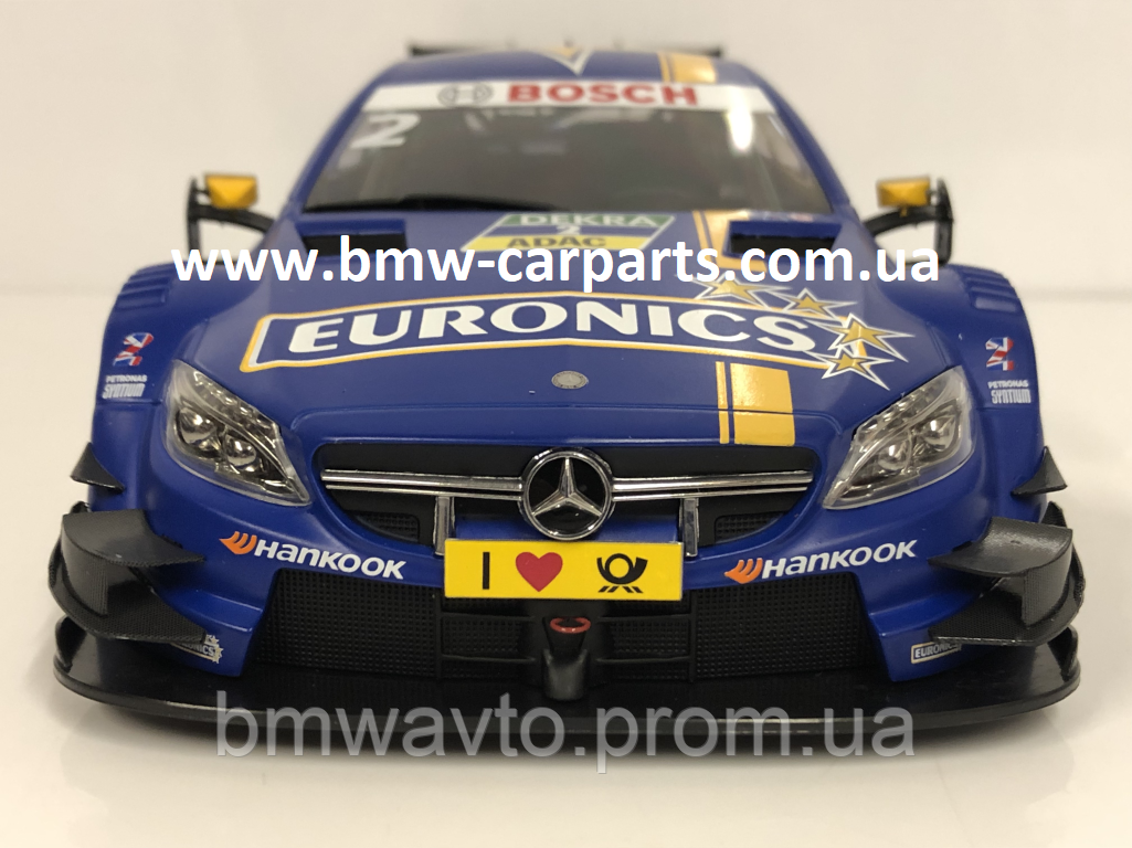 Модель Mercedes-AMG C 63 DTM, 2016, Euronics, Blue, 1:18 Scale