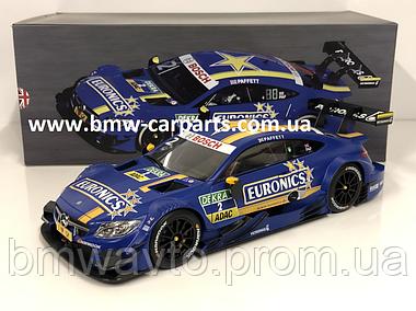 Модель Mercedes-AMG C 63 DTM, 2016, Euronics, Blue, 1:18 Scale, фото 3
