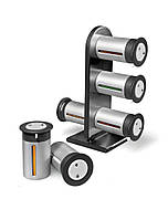 Набор баночек для специй и приправ Zevgo Magnetic Spice Stand из 6 спецовников