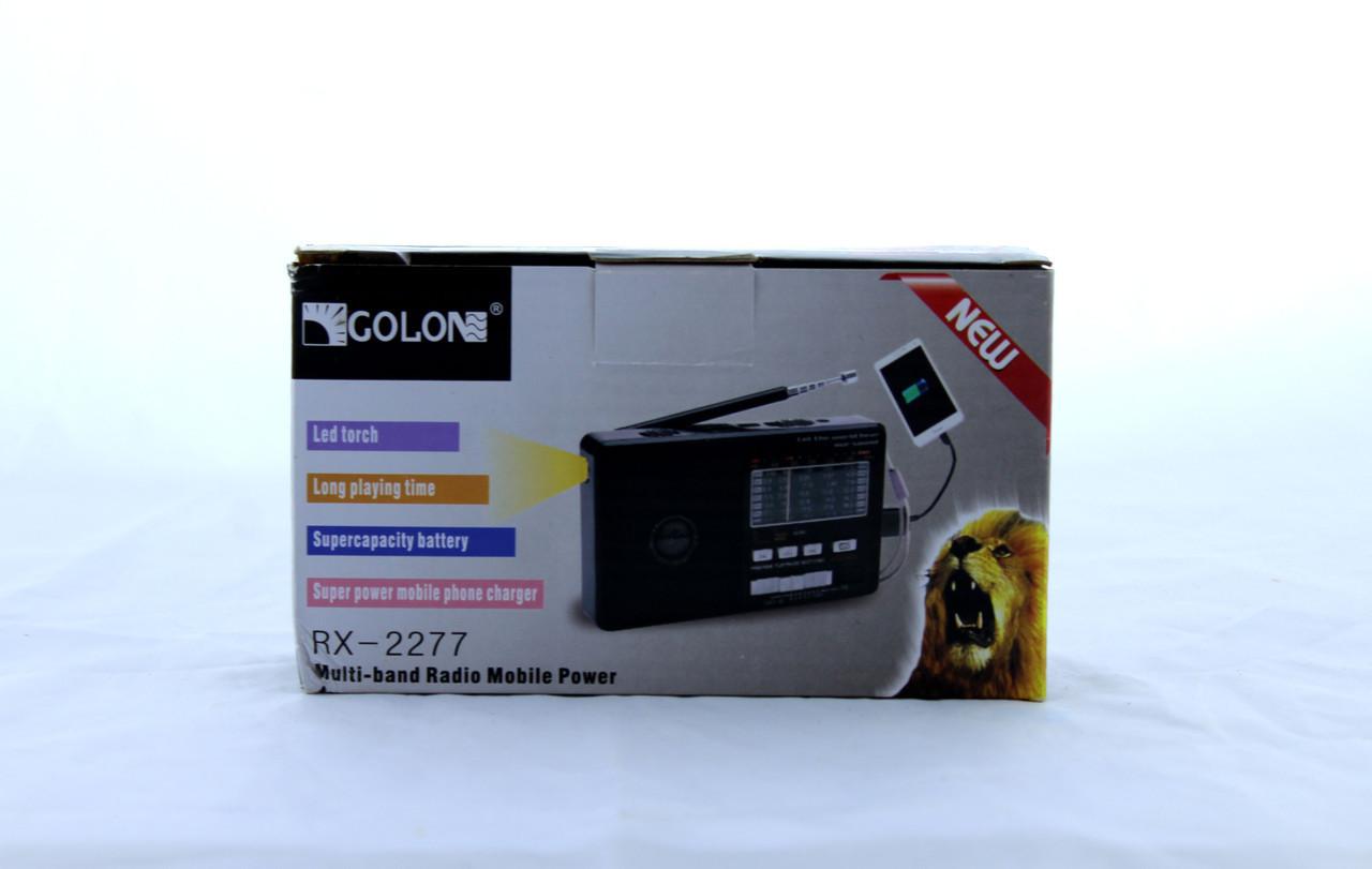 Радиоприемник Golon RX 2277 портативная колонка USB /SD / MP3/ FM / LED фонарик