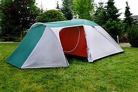 Палатка, четырех, 4, местная, coleman, двухслойная, с тамбуром, туристическая, семейная, просторная, польская