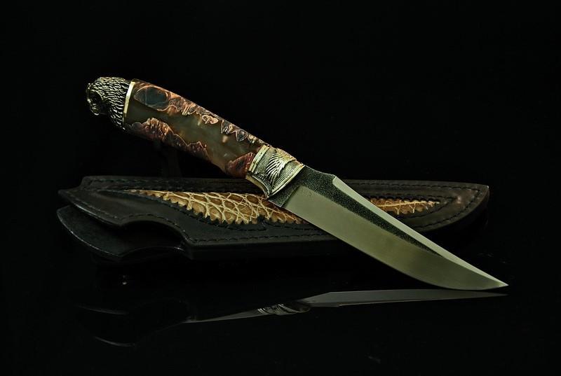 """Нож туристический ручной работы """"Филин"""", N690"""