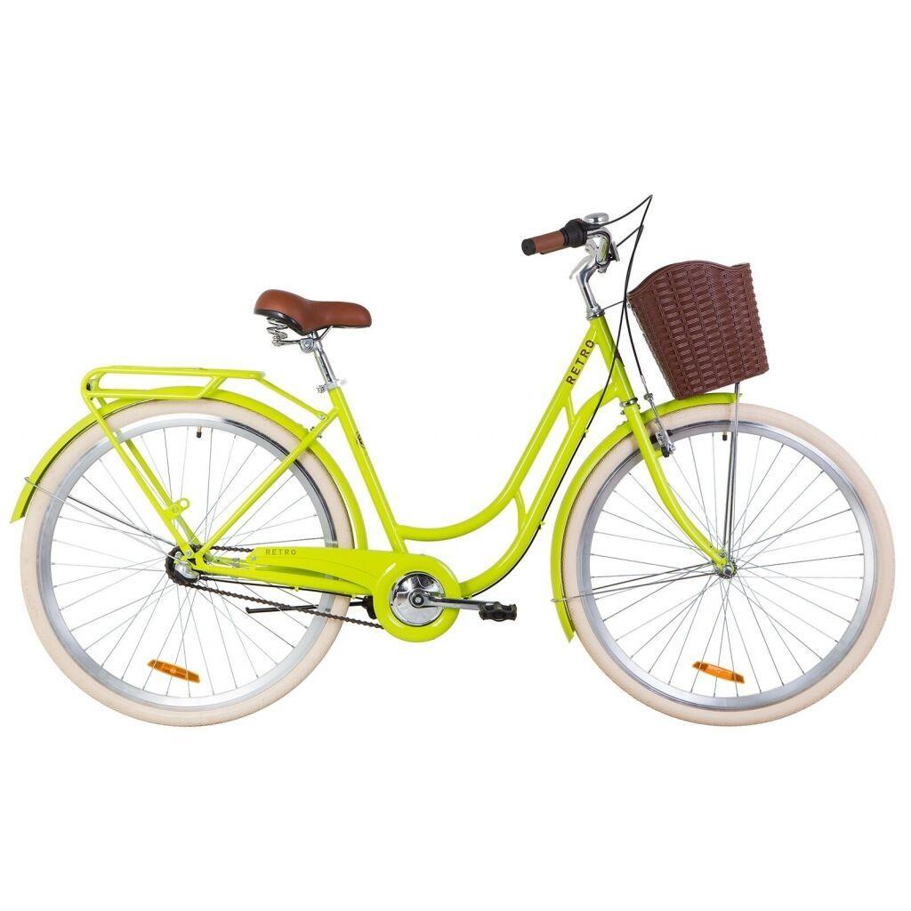 """Велосипед Dorozhnik 28"""" RETRO PH 2019 (салатный ) (OPS-D-28-147)"""