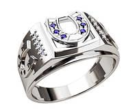 Кольцо серебряное Подкова