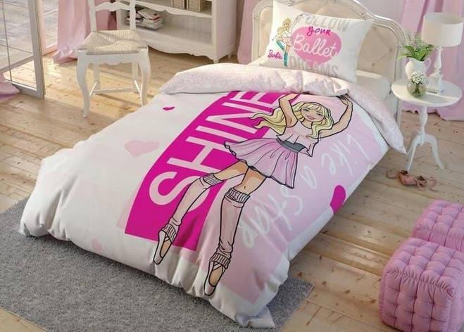 Постільна білизна TAC DISNEY, Barbie Ballet полуторний, фото 2