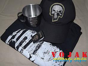 Комплект подарочный Punisher (бейсболка, футболка, зажигалка, чашка).