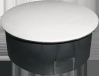 Коробка распределительная d 100 мм в гипс с крышкой