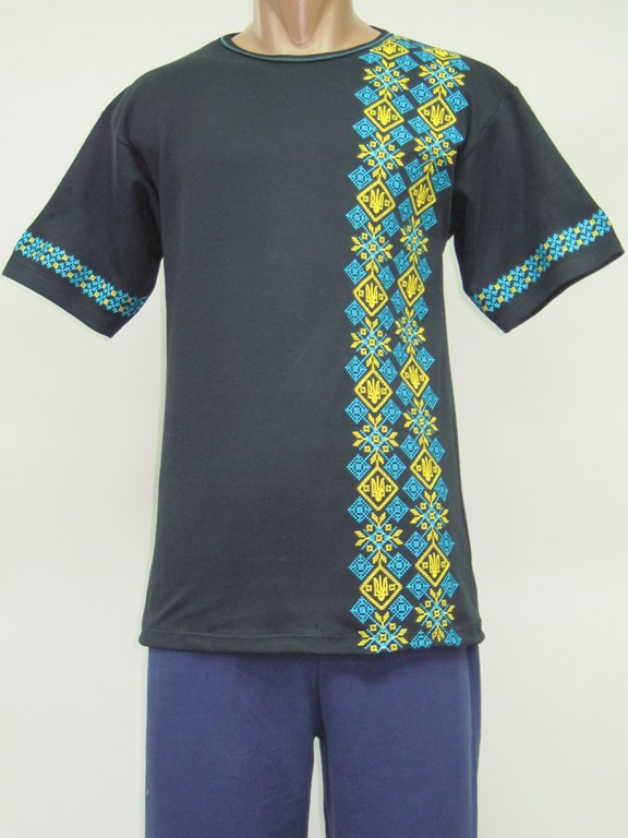Мужская вышиванка - футболка Герб