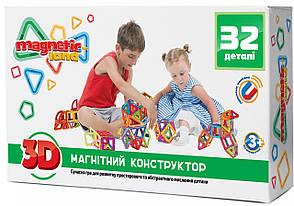 Магнитный конструктор Magnetic land Зеленый 32 детали(28474377)