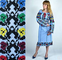 Женское вышитое платье Кодп02