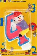 Свеча-цифра Клоун 4