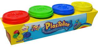 Набор для лепки 4 цвета Plastelino
