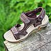 Босоножки сандалии мужские кожаные коричневые  (789) - босоніжки сандалі чоловічі шкіряні літні коричневі