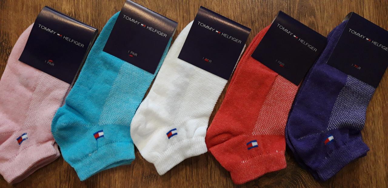 """Жіночі короткі шкарпетки,стрейч.сітка в стилі""""Tommy"""""""
