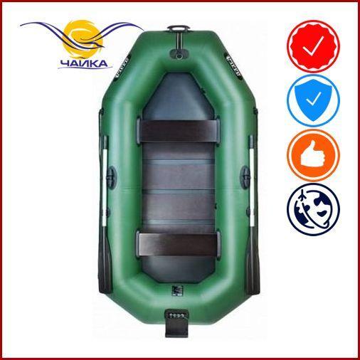 Лодка Ladya LT-270CT. Гребная, 2,70м, 2 места, 850/850 ПВХ, стационарные сиденья, реечное днище, навесной транец. Надувная лодка ПВХ Ладья ЛТ-270СТ;