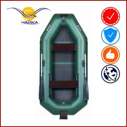 Лодка Ladya LT-270EVTB. Гребная, 2,70м, 2 места, 850/850 ПВХ, сдвижные/стационарные сиденья, сплошное днище, навесной транец, привальный брус.