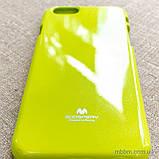 Чохол Goospery Jelly Mercury iPhone 6 лайм, фото 5