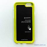 Чохол Goospery Jelly Mercury iPhone 6 лайм, фото 3