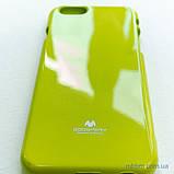 Чохол Goospery Jelly Mercury iPhone 6 лайм, фото 4