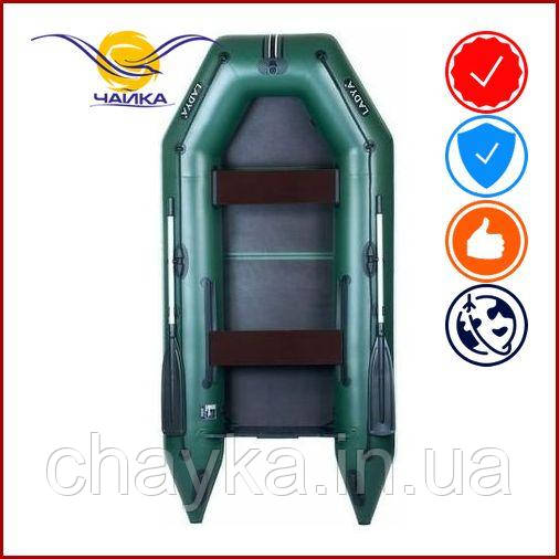 Лодка Ladya LT-290MVE. Моторная, 2,90м, 2 места, 850/850 ПВХ, сдвижные/стационарные сиденья, сплошное днище. Надувная лодка ПВХ Ладья ЛТ-290МВЕ;