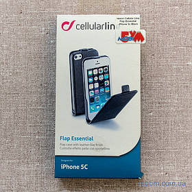 Чохол Cellular Line Flap Essential iPhone 5c black (FLAPESSIPH5CBK) EAN / UPC: 8018080196386