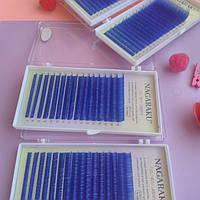 Цветные ресницы Нагараку синие С 0.07 (7-15)