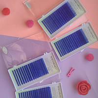 Цветные ресницы Нагараку синие С 0.10 (7-15)