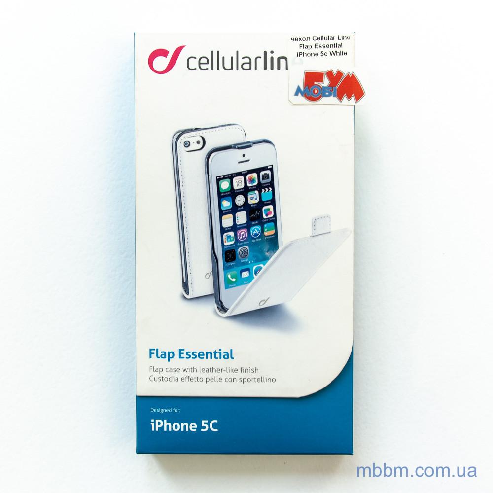 Чехол Cellular Line Flap Essential iPhone 5c white (FLAPESSIPH5CW) EAN/UPC: 8018080196393