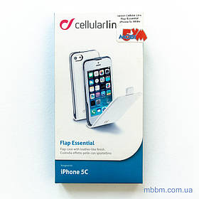 Чохол Cellular Line Flap Essential iPhone 5c white (FLAPESSIPH5CW) EAN / UPC: 8018080196393