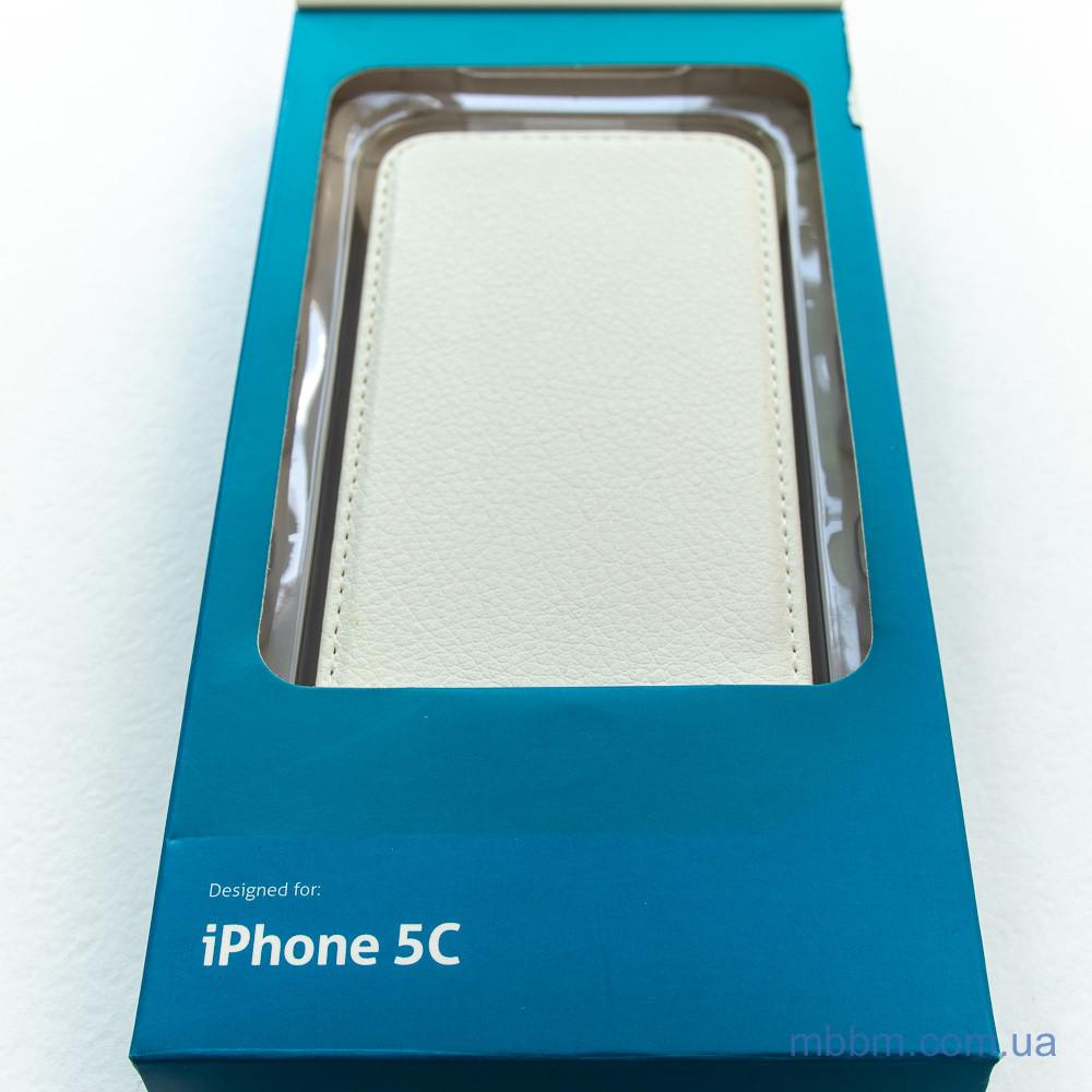 Чехол Cellular Line Flap Essential iPhone 5c white Apple 5C Для телефона