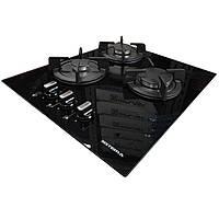 Газовая варочная поверхность Sistema 4110 P03-K05 (450 мм.) черное закаленное стекло