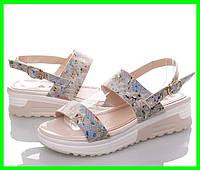 Женские Сандалии Босоножки Летняя Обувь на Танкетке Платформа (размеры: 37,38,39)