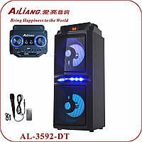 Колонка переносная AILIANG AL-3592-DT портативный динамик XFI X-FI USB SD FM BT( Реплика)
