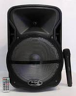 Портативная колонка-чемодан 60Вт Wimpex, радиомикрофон, пульт WX-7316