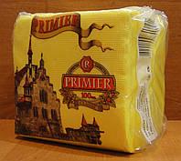 Салфетка бумажная премьер 24*24 100л жёлтая